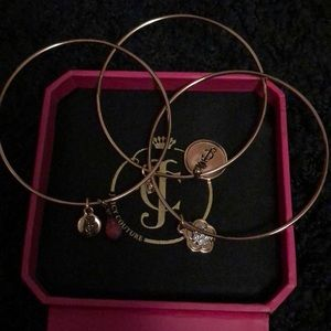 Juicy Couture 3 bangle bracelets with charms